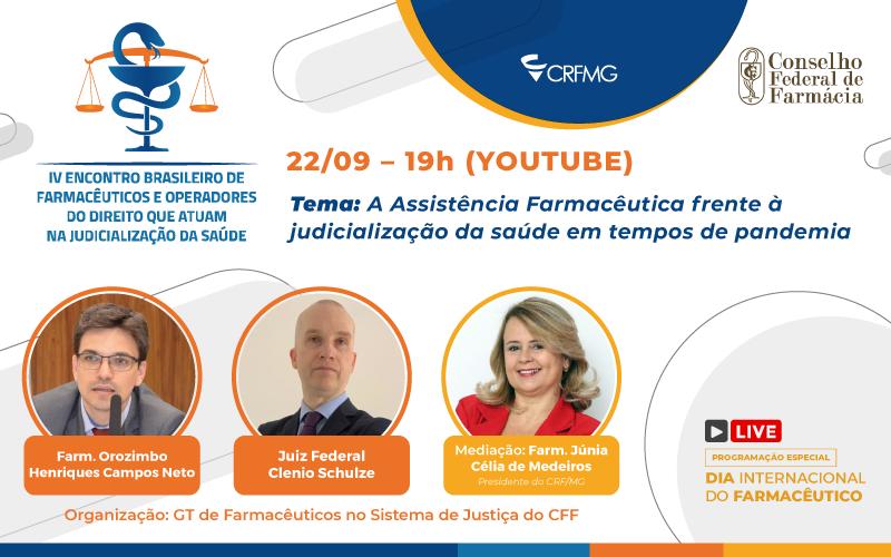 Judicialização da saúde é tema do encontro de farmacêuticos no próximo dia 22